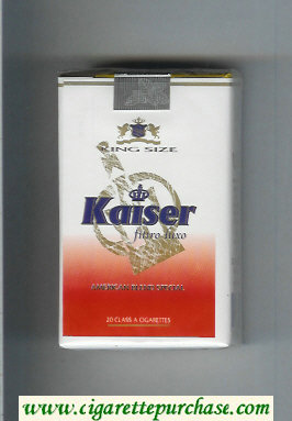 Kaiser Filtro Luxo American Blend Special white and red cigarettes soft box