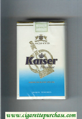 Kaiser Lights Filter Luxe American Blend Special white and blue cigarettes soft box