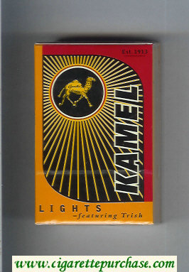 Kamel Lights featuring Trish cigarettes hard box