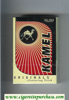 Kamel Originals featuring Trish cigarettes hard box