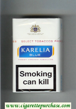 Karelia Blue Finest Virginia Tobaccos cigarettes hard box