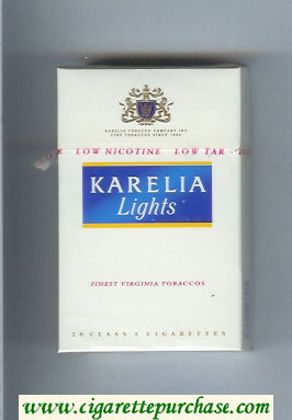 Karelia Lights Finest Virginia Tobaccos cigarettes hard box