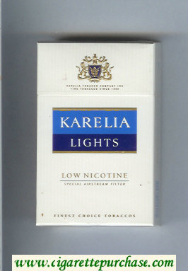 Karelia Lights Low Nicotine Special Airstream Filter cigarettes hard box