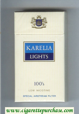 Karelia Lights Low Nicotine Special Airstream Filter 100s cigarettes hard box