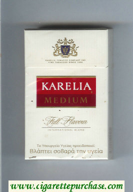 Karelia Medium Full Frovour International Blend cigarettes hard box