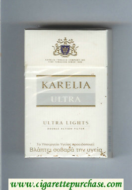 Karelia Ultra Ultra Lights Double Action Filter cigarettes hard box