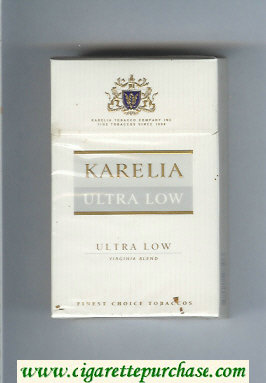 Karelia Ultra Low Ultra Low Virginia Blend cigarettes hard box