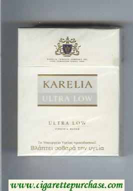 Karelia Ultra Low Ultra Low Virginia Blend 25s cigarettes hard box