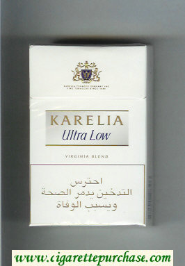 Karelia Ultra Low Virginia Blend cigarettes hard box