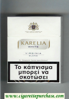 Karelia White Virginia Blend 25s cigarettes hard box