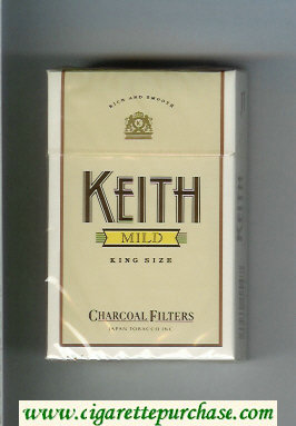 Keith Mild Charcoal Filters cigarettes hard box