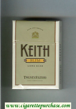 Keith Slim Twenty Filters cigarettes hard box