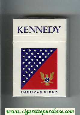 Kennedy American Blend cigarettes hard box