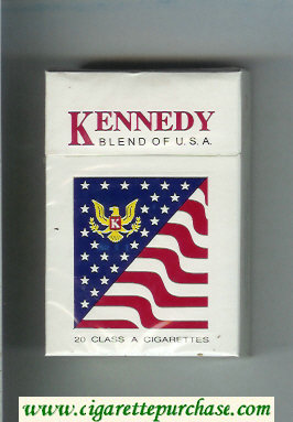 Kennedy Blend of USA cigarettes hard box