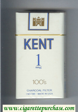 Discount Kent 1 mg Charcoal Filter 100s cigarettes hard box