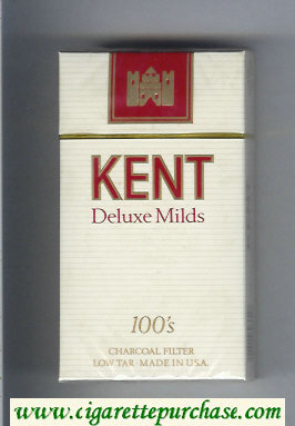 Discount Kent Deluxe Mild Charcoal Filter 100s cigarettes hard box