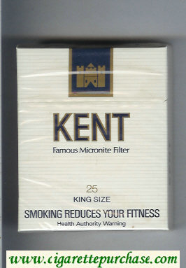 Kent Famous Micronite Filter 25s cigarettes hard box