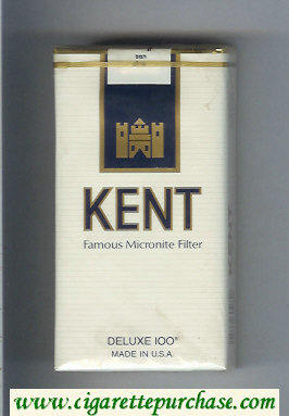 Kent Famous Micronite Filter 100s cigarettes soft box