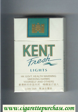 Kent Fresh Lights cigarettes hard box
