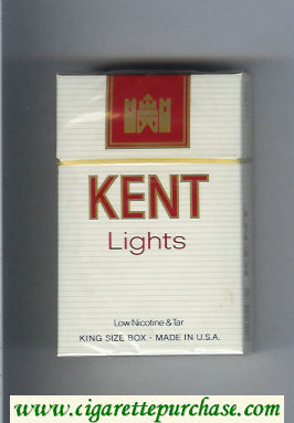 Kent Lights cigarettes hard box