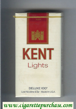 Kent Lights Deluxe 100s cigarettes soft box