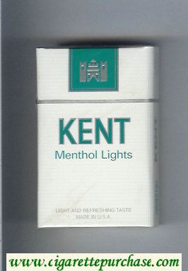 Kent Menthol Lights cigarettes hard box