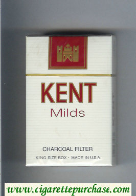 Kent Milds Charcoal Filter cigarettes hard box