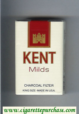 Kent Milds Charcoal Filter cigarettes soft box