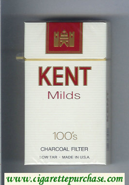 Discount Kent Milds 100s Charcoal Filter cigarettes hard box