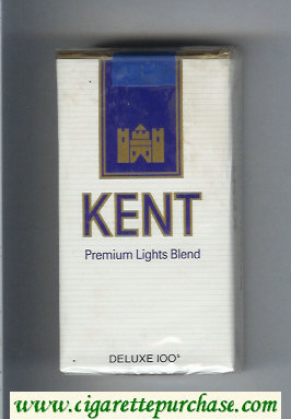 Kent Premium Lights Blend Deluxe 100s cigarettes soft box