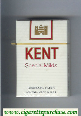 Kent Special Mild Charcoal Filter cigarettes hard box