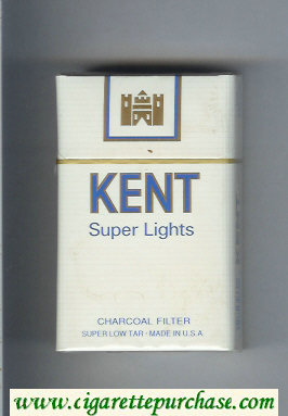 Discount Kent Super Lights Charcoal Filter cigarettes hard box