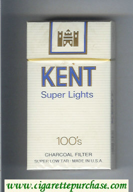Discount Kent Super Lights 100s Charcoal Filter cigarettes hard box