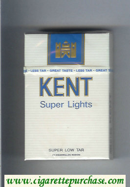 Kent Super Lights cigarettes hard box
