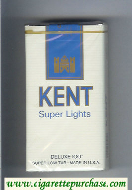 Kent Super Lights Deluxe 100s cigarettes soft box