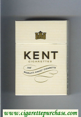 Kent cigarettes The World's Finest Cigarette hard box