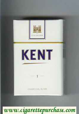 Discount Kent USA Blend 1 Charcoal Filter cigarettes hard box