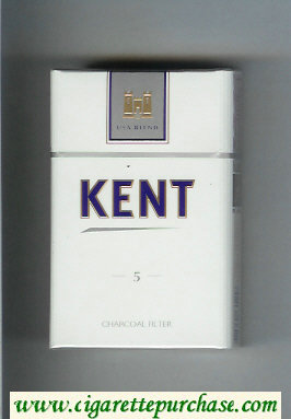 Discount Kent USA Blend 5 Charcoal Filter cigarettes hard box