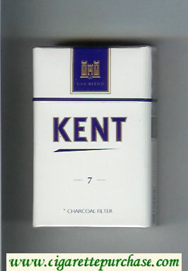 Kent USA Blend 7 Charcoal Filter cigarettes hard box