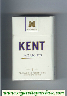 Discount Kent USA Blend 1 mg Lights 1 Absolyutno Legkij Vkus T Charcoal Filter cigarettes hard box