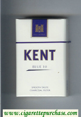 Kent USA Blend Blue 10 Smoosh Taste Charcoal Filter cigarettes hard box