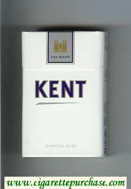 Discount Kent USA Blend Charcoal Filter white and grey cigarettes hard box