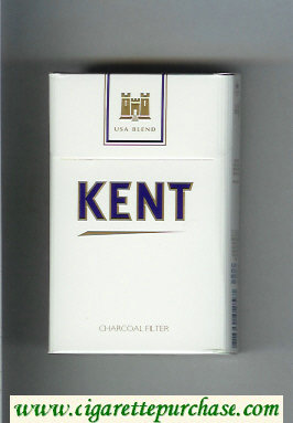 Kent USA Blend Charcoal Filter white and white cigarettes hard box