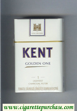 Discount Kent USA Blend Golden One 1 Lightest Charcoal Filter cigarettes hard box