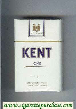 Discount Kent USA Blend One 1 Smooshest Taste Charcoal Filter cigarettes hard box
