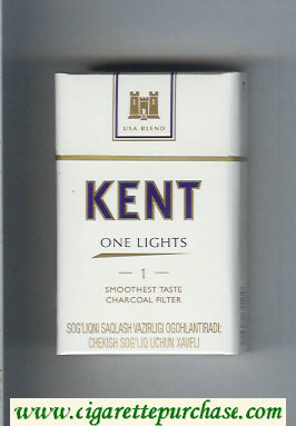 Kent USA Blend One Lights 1 Smoothest Taste Charcoal Filter cigarettes hard box