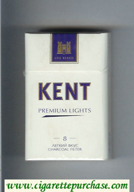 Discount Kent USA Blend Premium Lights 8 Legkij Vkus T Charcoal Filter cigarettes hard box