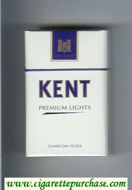Discount Kent USA Blend Premium Lights Charcoal Filter cigarettes hard box