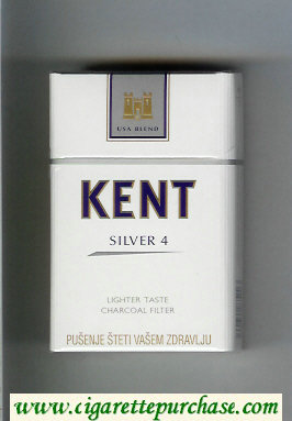 Discount Kent USA Blend Silver 4 Lighter Taste Charcoal Filter cigarettes hard box