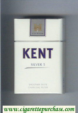 Discount Kent USA Blend Silver 5 Smoosher Taste Charcoal Filter cigarettes hard box